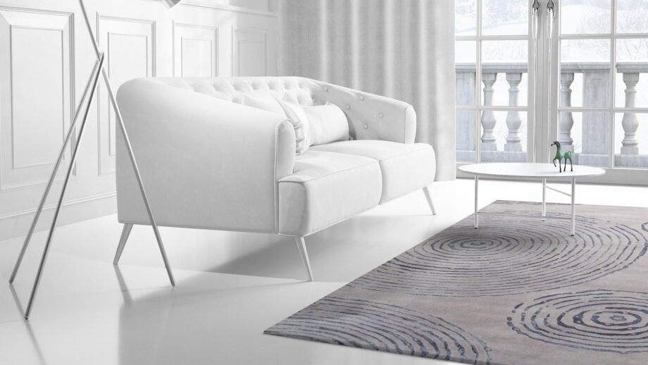Mae Artisan Rugs | The Crop Circle modern crop circle 1809 3.50 x 2.50m Mae Rugs Template Side View 2 Recovered