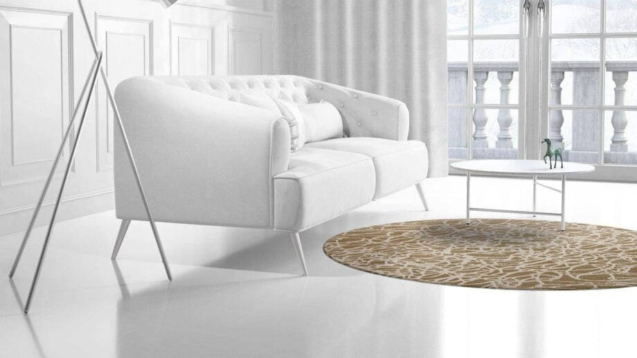 Mae Artisan Rugs | The Curved Madness modern curved madness Nn 2.10m Round 2.2m Mae Rugs Template Side View 2