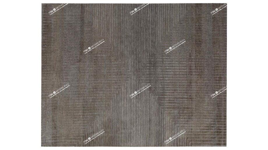 Mae Artisan Rugs | The Deep Cut Tibetan C1110 deep cut olive 3.02 x 2.52m 2.5m X 3m Mae Rugs Template Top View