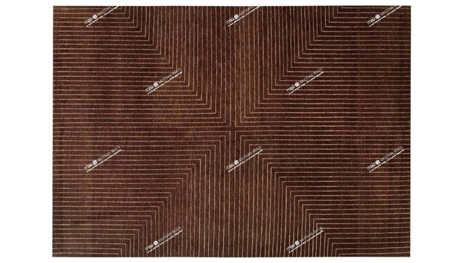 Mae Artisan Rugs | The Deep Cut contemporary deep cut brown C1116 3.52 x 2.55m 350 x 250 Mae Rugs Template Top View