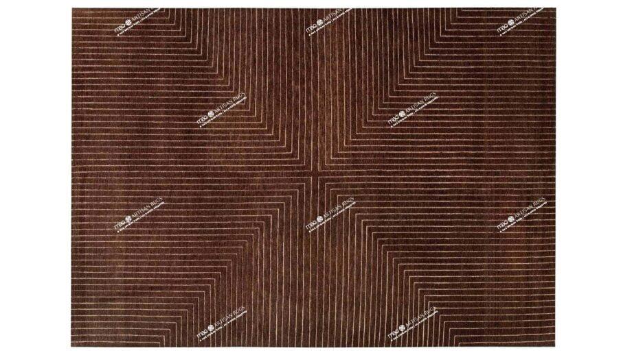 Mae Artisan Rugs | The Deep Cut contemporary deep cut brown C1116 3.52 x 2.55m 350 x 250 Mae Rugs Template Top View