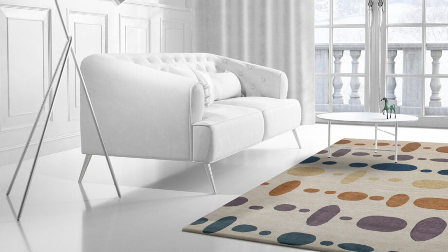 Mae Artisan Rugs | The Dots himalaya dots C1395 3.40 x 2.50m Mae Rugs Template Side View 2