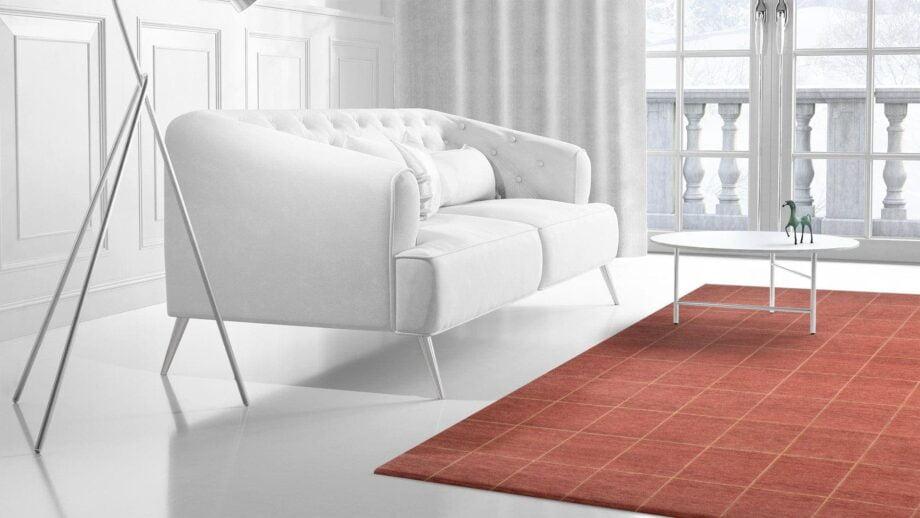 Mae Artisan Rugs | The Grid Tibetan C1099 grid red 3.02 x 2.40m 2.5m X 3m Mae Rugs Template Side View 2