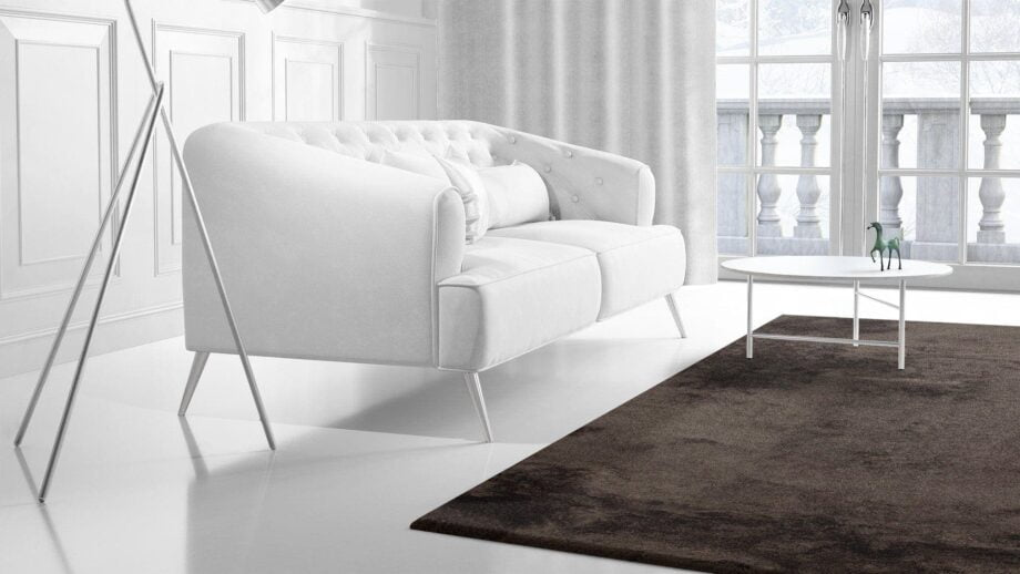 Mae Artisan Rugs | The Linen Shaggy 10cm linen brown Nn 3.50 x 2.50m much cooler . towards Grey Mae Rugs Template Side View 2 Recovered