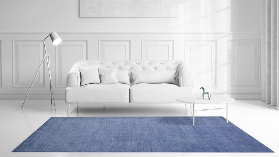 Mae Artisan Rugs | The Matt Blue bamboo silk 2389 3.00 x 2.50m 2.5m X 3m Mae Rugs Template Front View