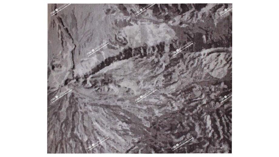 Mae Artisan Rugs | The Mountain art mountain 40149 3.04 x 2.53m 2.5m X 3m Mae Rugs Template Top View
