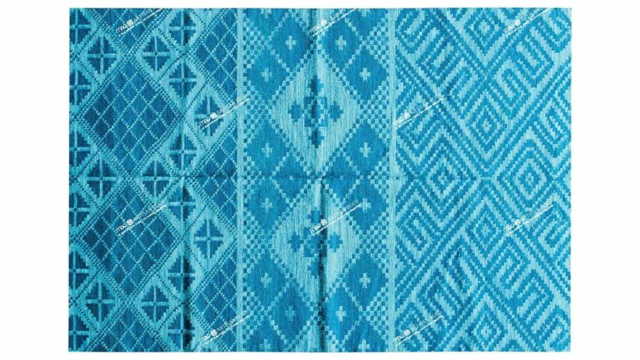 Mae Artisan Rugs | The Pixelized Blue kelim pixelized blue 40342 2.40 x 1.70m Mae Rugs Template Top View