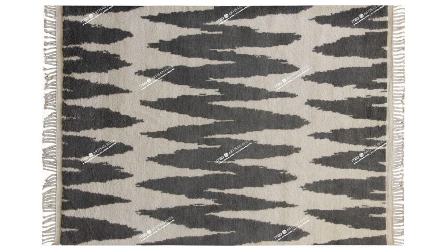 Mae Artisan Rugs | The Shockwave Berber berber shockwave 40104 2.80 x 1.85m Fringed 2m X 3m Mae Rugs Template Top View