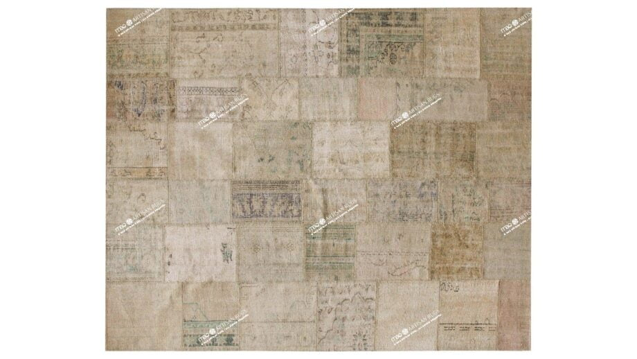 Mae Artisan Rugs | The Turkish Patchwork 75053 2.96 x 2.53m 2.5m X 3m Mae Rugs Template Top View
