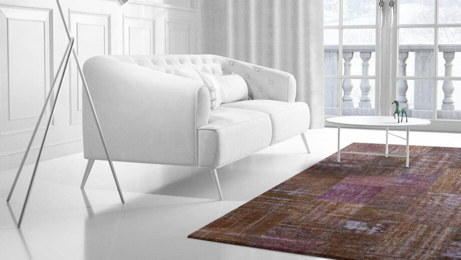 Mae Artisan Rugs | The Turkish Patchwork brown 4311 3.013 x 2.40m 2.5m X 3m Mae Rugs Template Side View 2