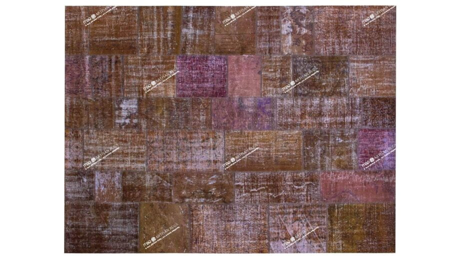 Mae Artisan Rugs | The Turkish Patchwork brown 4311 3.013 x 2.40m 2.5m X 3m Mae Rugs Template Top View