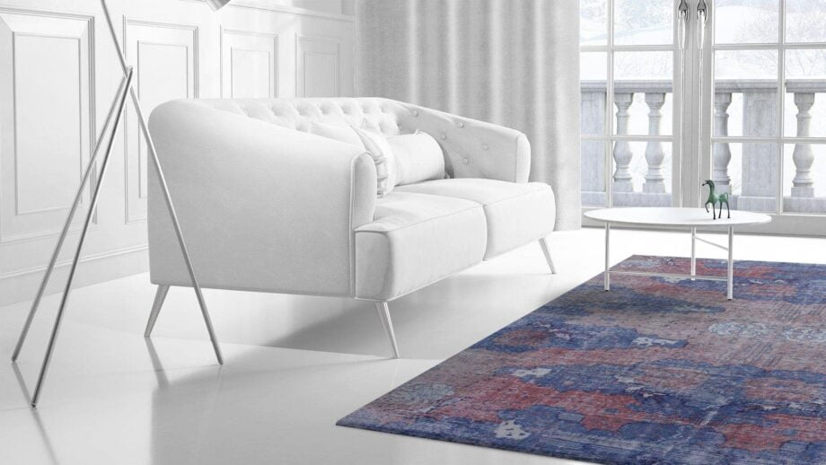 Mae Artisan Rugs | The Turkish Reloaded red blue 75065 2.85 x 1.80m 2m X 3m Mae Rugs Template Side View 2