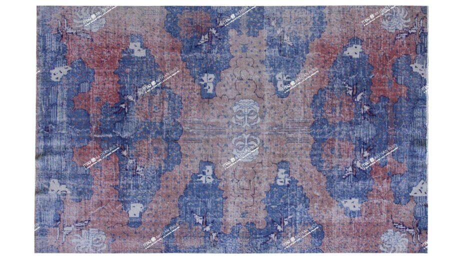 Mae Artisan Rugs   The Turkish Reloaded red blue 75065 2.85 x 1.80m 2m X 3m Mae Rugs Template Top View