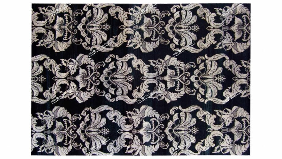 Mae Artisan Rugs | The Wallpaper eclectic wall paper black white 1241 3.42 x 2.60m 350 x 250 Mae Rugs Template Top View
