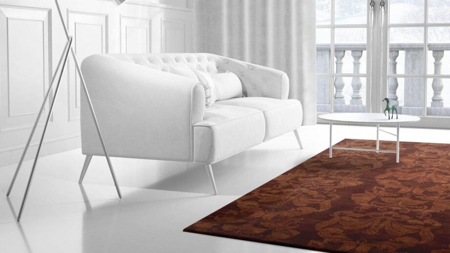Mae Artisan Rugs | The Wallpaper himalaya C1326 1077 wallpaper red 3.00 x 2.50m 2.5m X 3m Mae Rugs Template Side View 2