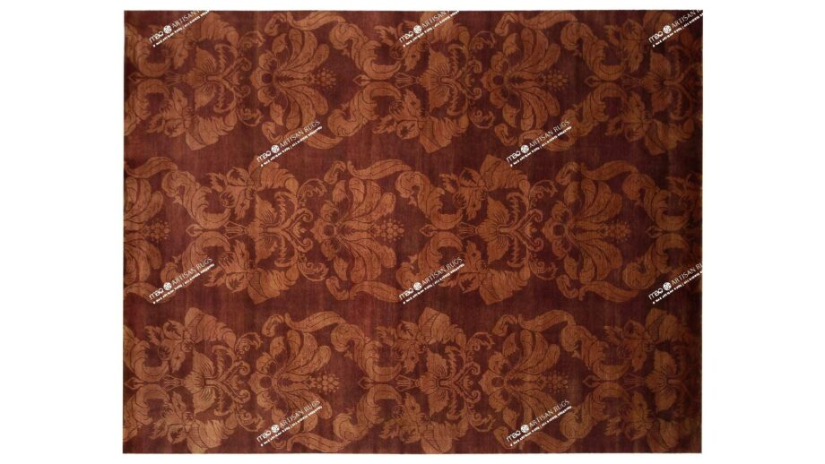 Mae Artisan Rugs | The Wallpaper himalaya C1326 1077 wallpaper red 3.00 x 2.50m 2.5m X 3m Mae Rugs Template Top View