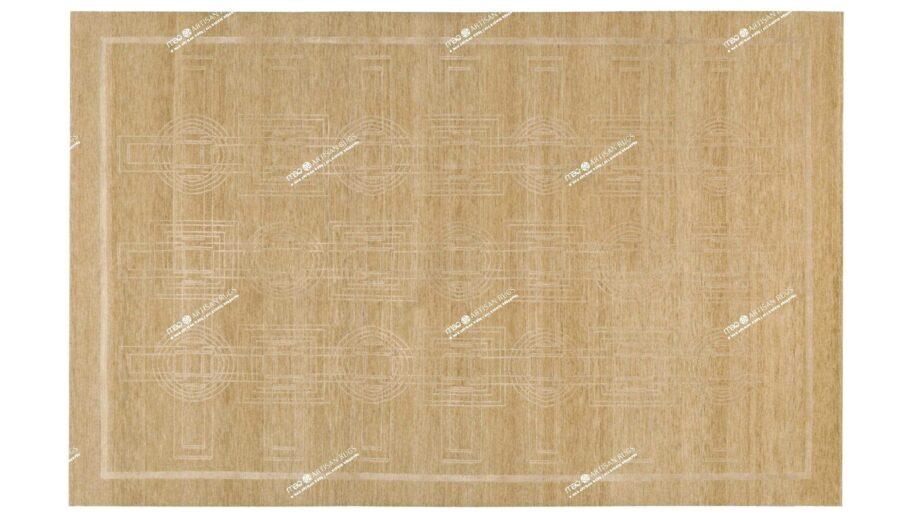 Mae Artisan Rugs | Tibetan Biscuit Rectangular Circles C1054 280185 80 knot 25 Silk 2m X 3m Mae Rugs Template Top View