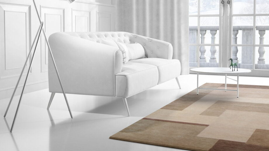 Mae Artisan Rugs | himalaya patchwork Biscuit Nn 2.5m X 3m Mae Rugs Template Side View 2