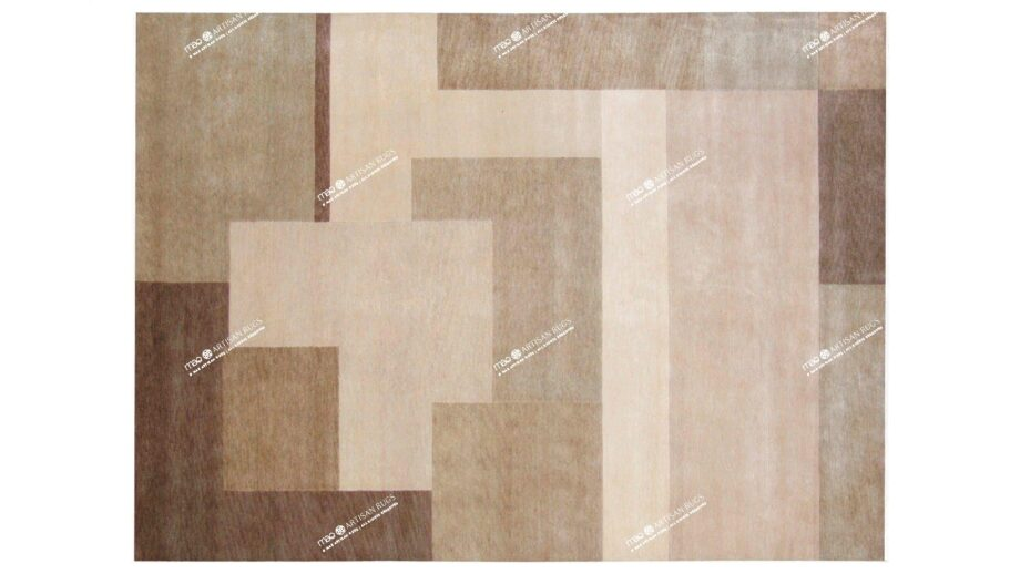 Mae Artisan Rugs | himalaya patchwork Biscuit Nn 2.5m X 3m Mae Rugs Template Top View
