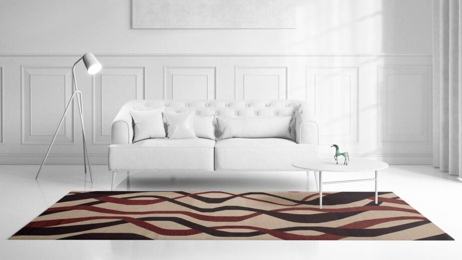 Mae Artisan Rugs | kelim The Ribbons 11121 3.50 x 2.50m Mae Rugs Template Front View