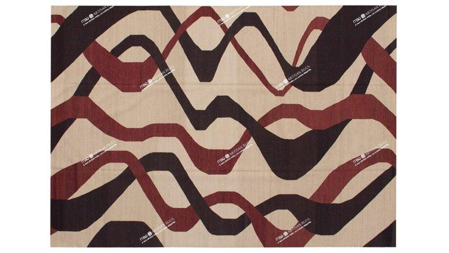 Mae Artisan Rugs | kelim The Ribbons 11121 3.50 x 2.50m Mae Rugs Template Top View