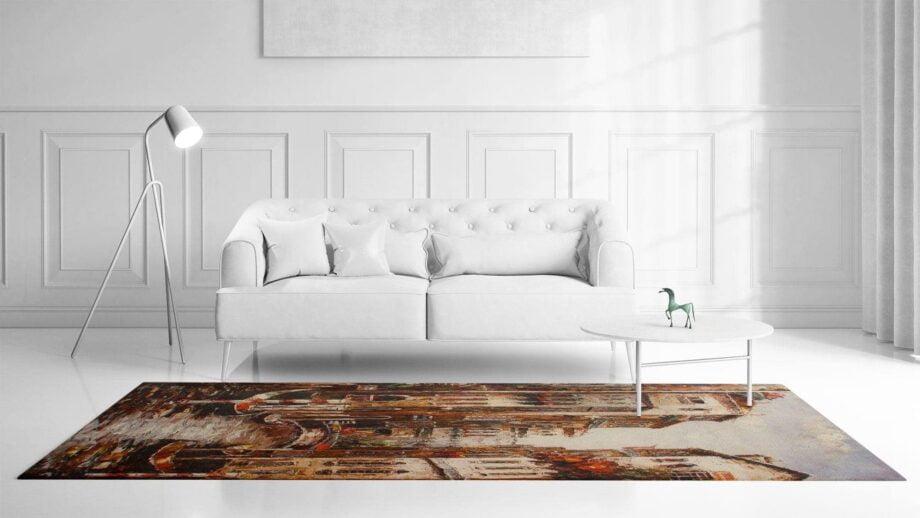 Mae Artisan Rugs | kelim printed The Venice Nn 240m X 170m Mae Rugs Template Front View