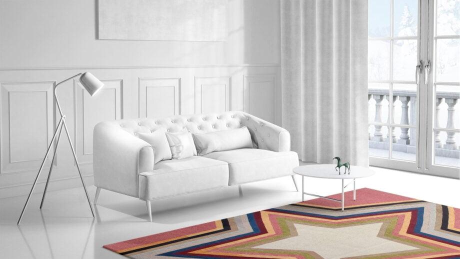 Mae Artisan Rugs | kelim star pink 11122 3.50 x 2.50m Mae Rugs Template Side View 1