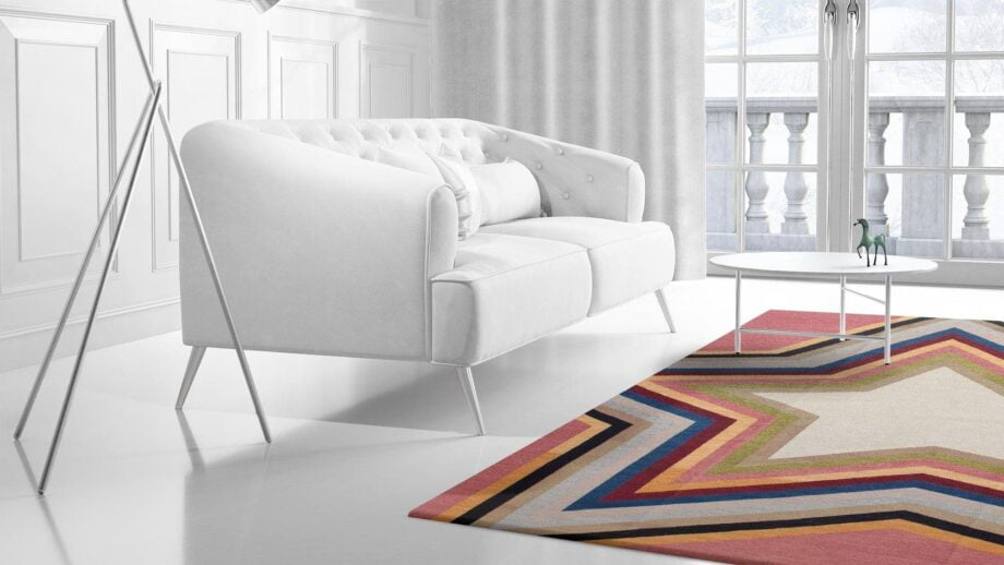 Mae Artisan Rugs | kelim star pink 11122 3.50 x 2.50m Mae Rugs Template Side View 2