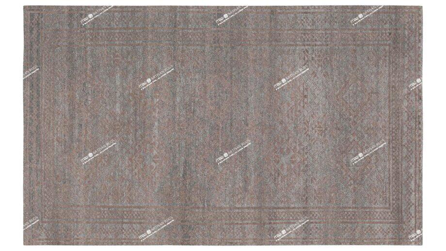 Mae Artisan Rugs | kelvin brown blue 2178 2.72 x 1.79m 2m X 3m Mae Rugs Template Top View