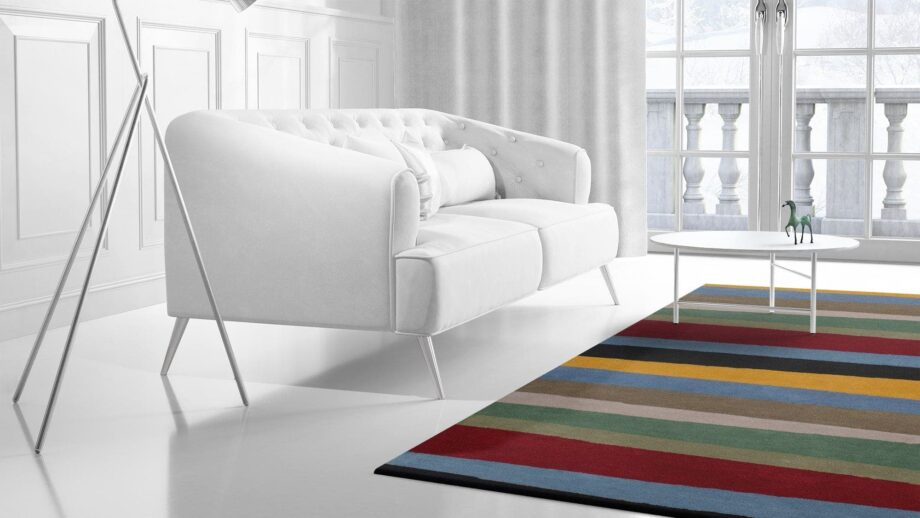 Mae Artisan Rugs | modern 1053 clown 3.00 x 2.50m 2.5m X 3m Mae Rugs Template Side View 2 Recovered Recovered