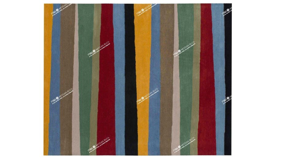 Mae Artisan Rugs | modern 1053 clown 3.00 x 2.50m 2.5m X 3m Mae Rugs Template Top View Recovered Recovered