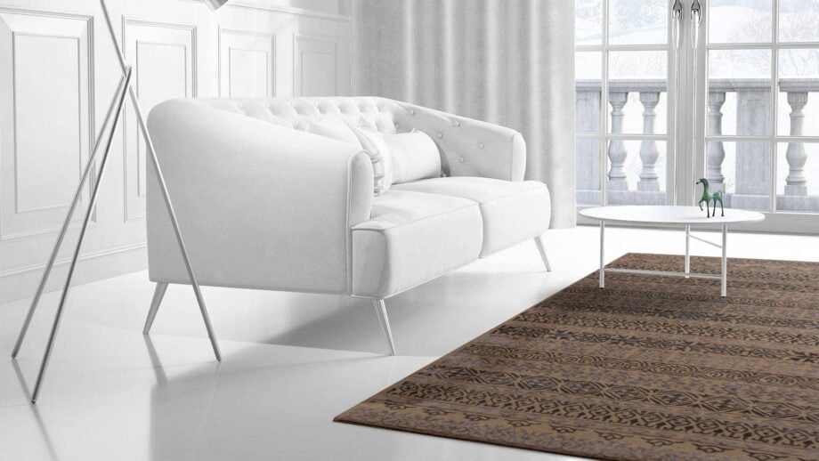 Mae Artisan Rugs | modern 2147 heaven brown 3.00 x 2.50m 2.5m X 3m Mae Rugs Template Side View 2 Recovered