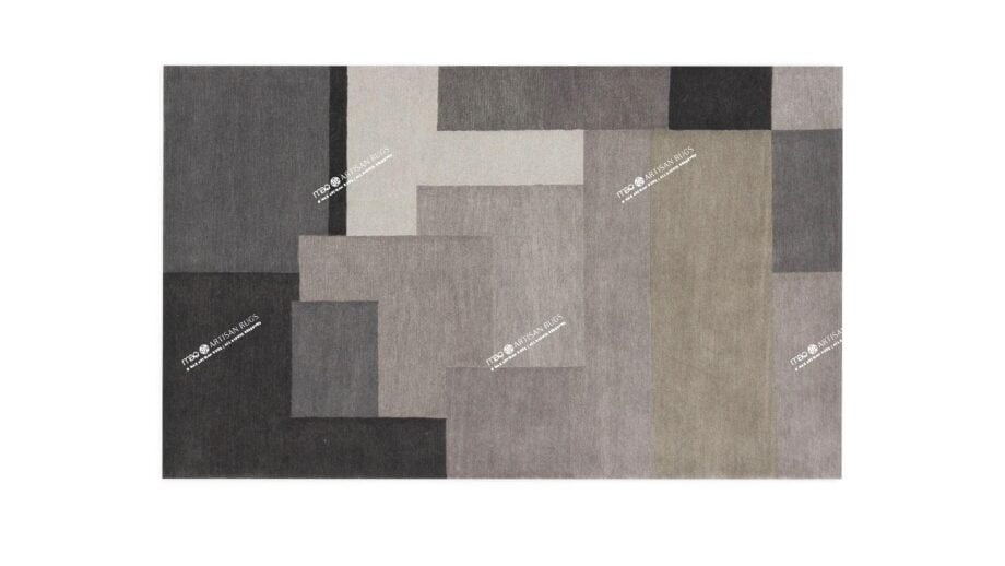 Mae Artisan Rugs | modern The Patchwork grey 40290 2.00 x 1.30m 1.3m X 2m Mae Rugs Template Top View
