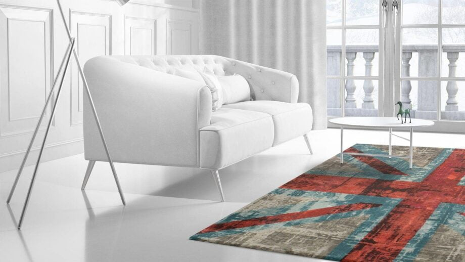 Mae Artisan Rugs | modern The Union Jack 1719 3.00 x 2.50m 2.5m X 3m Mae Rugs Template Side View 2 Recovered