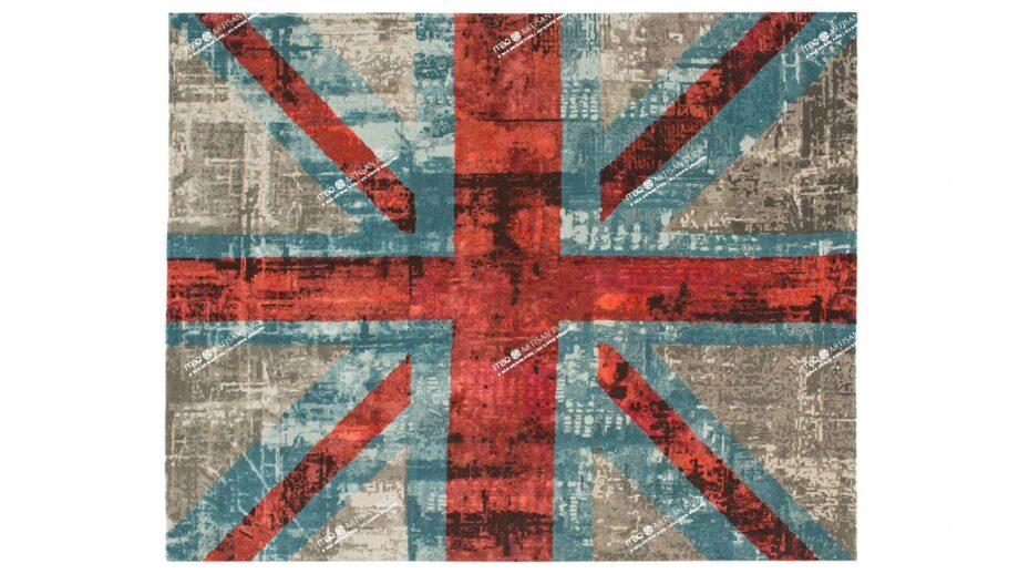 Mae Artisan Rugs | modern The Union Jack 1719 3.00 x 2.50m 2.5m X 3m Mae Rugs Template Top View Recovered