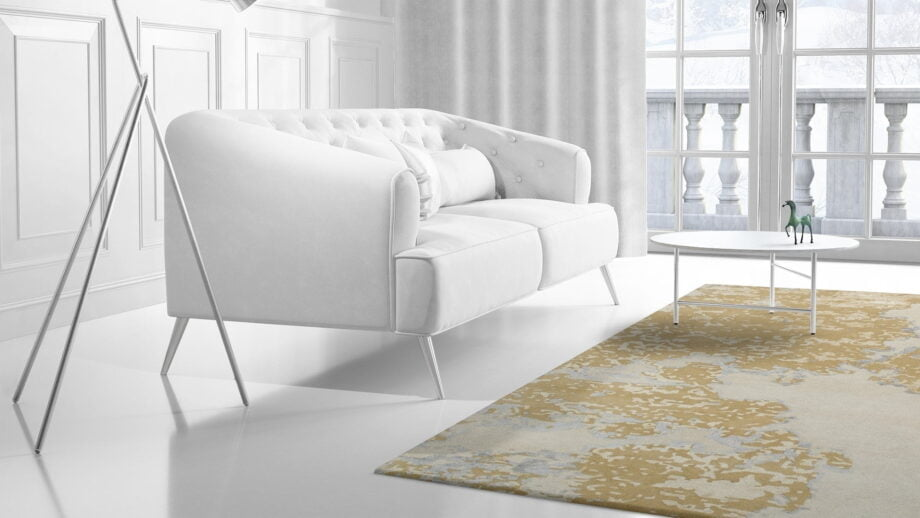 Mae Artisan Rugs | modern golden cow 1754 3.50 x 2.50m Mae Rugs Template Side View 2 Recovered