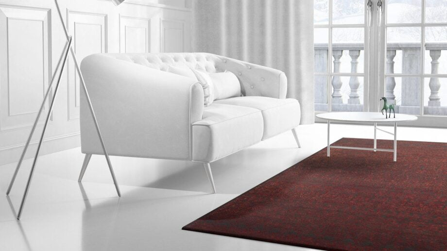 Mae Artisan Rugs | modern heaven red 2135 3.00 x 2.50m 2.5m X 3m Mae Rugs Template Side View 2 Recovered