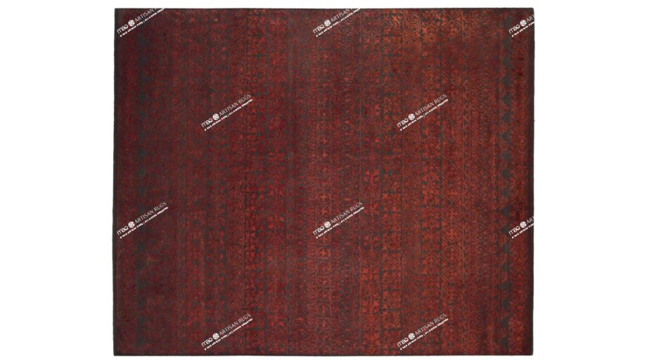 Mae Artisan Rugs | modern heaven red 2135 3.00 x 2.50m 2.5m X 3m Mae Rugs Template Top View Recovered
