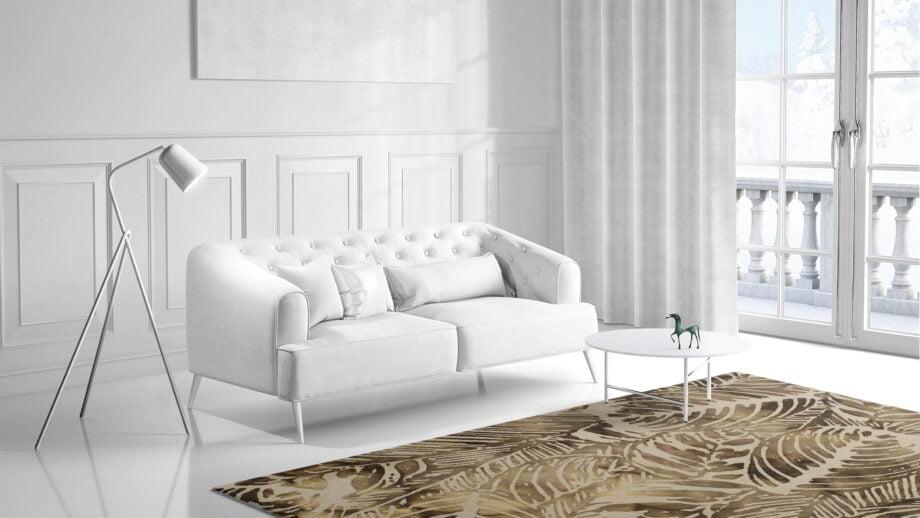 Mae Artisan Rugs | modern leaves 1527 2.40 x 1.60m 240m X 170m Mae Rugs Template Side View 1