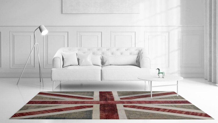 Mae Artisan Rugs | patchwork Nn Union Jack 3.00 x 2.50m 2.5m X 3m Mae Rugs Template Front View Recovered