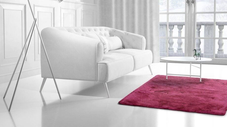 Mae Artisan Rugs | rayon shaggy 10cm pink 2.00 x 1.50m Mae Rugs Template Side View 2