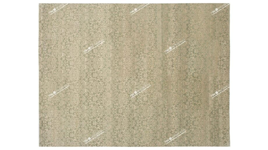 Mae Artisan Rugs | vintage Green C1114 3.45 x 2.53m Mae Rugs Template Top View