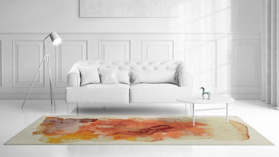 Mae Artisan Rugs | Art Nichi Botsu 40125 3.58 x 2.56m 2.5m X 3.5m Mae Rugs Template Front View