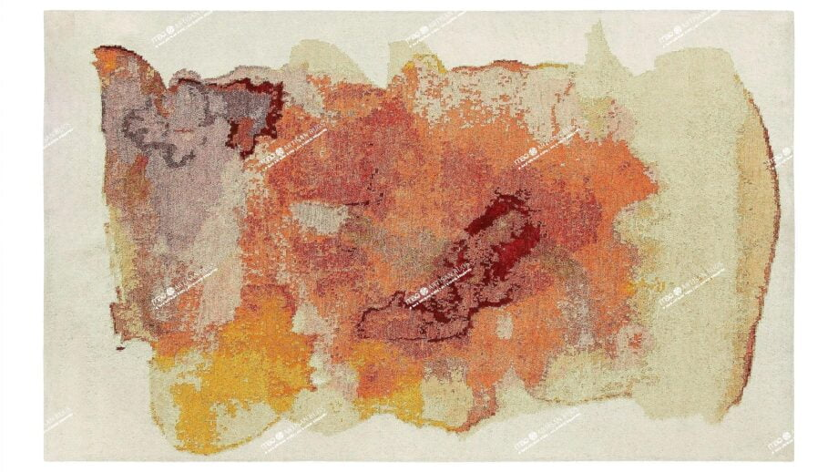 Mae Artisan Rugs | Art Nichi Botsu 40125 3.58 x 2.56m 2.5m X 3.5m Mae Rugs Template Top View