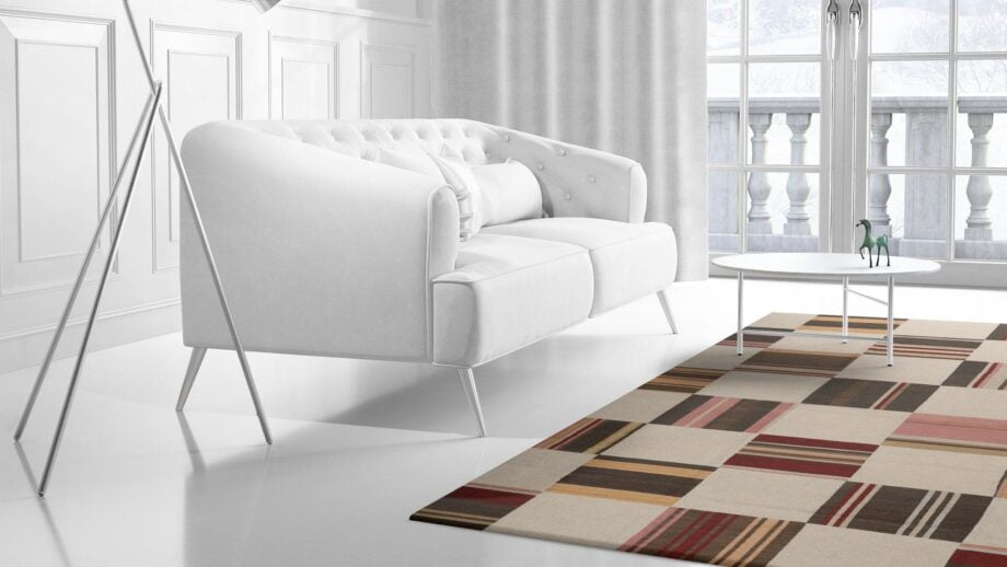 Mae Artisan Rugs | 11181 kelim OLD MP STOCK colourful blocks 4.00 x 3.00m Rectangular 3m x 4m Mae Rugs Template Side View 2