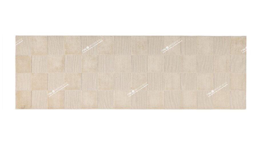 Mae Artisan Rugs | 1461 himalaya raised squares 2.75 x 0.83m Runner 3m X 0.85m Mae Rugs Template Top View