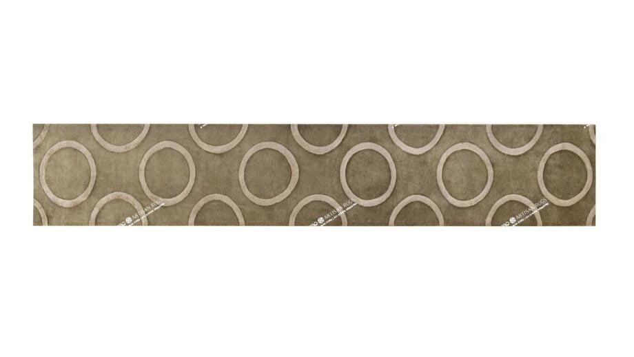 Mae Artisan Rugs   3086 himalaya raised circles green 5.68 x 0.80m Runner 3m X 0.85m Mae Rugs Template Top View