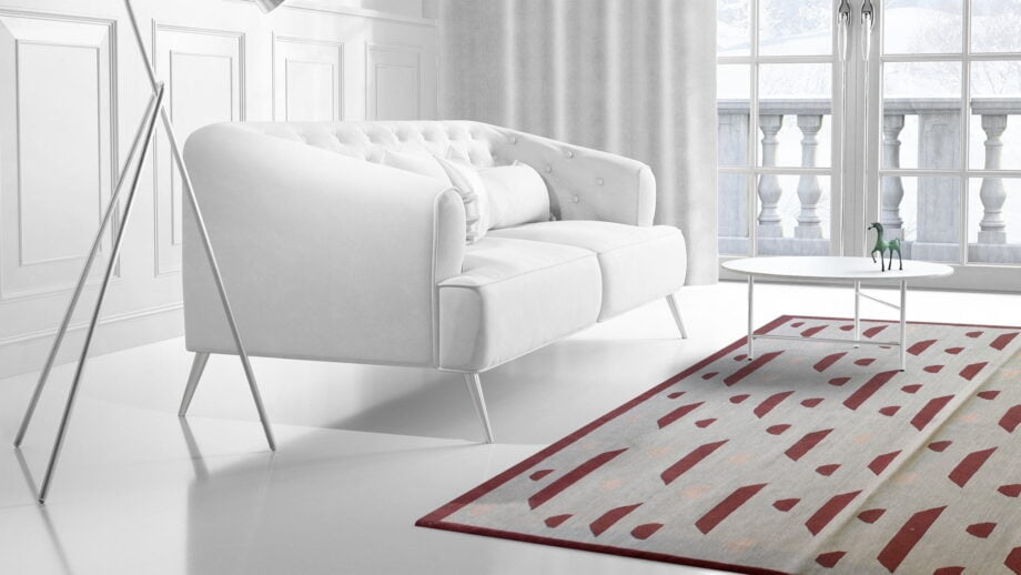 Mae Artisan Rugs | Contemporary Acid Rain Drops Kelim 68097 1.80 x 2.80 Rectangular 2m X 3m Mae Rugs Template Side View 2