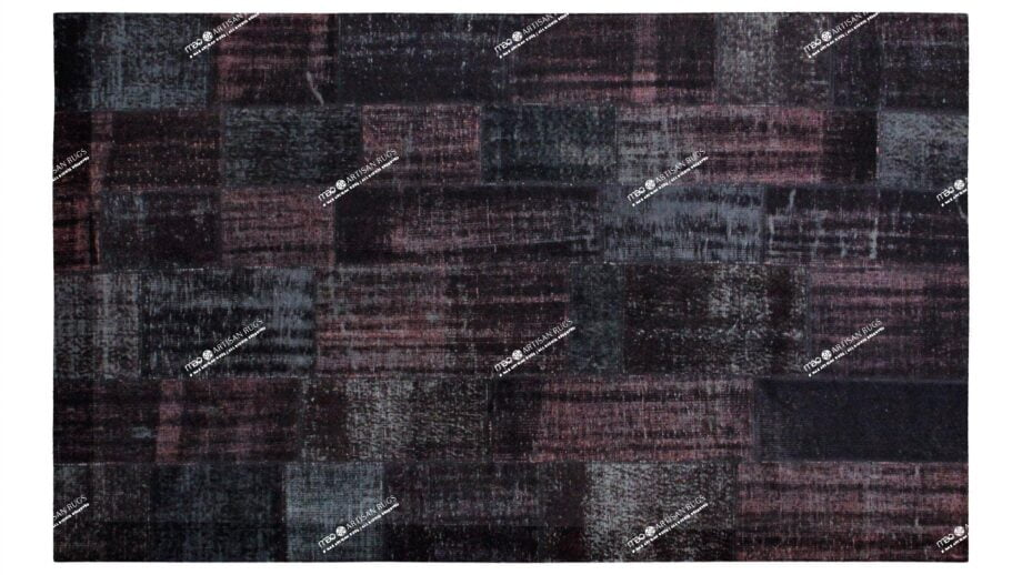 Mae Artisan Rugs | Contemporary Black Patchwork Reloaded 2.0 x 3.0 Rectangular 2m X 3m Mae Rugs Template Top View