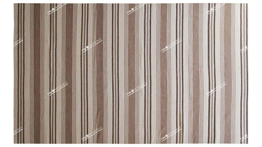 Mae Artisan Rugs | Contemporary Brown Stripe Kelim 1473 2.0 x 3.0 Rectangular 2m X 3m Mae Rugs Template Top View